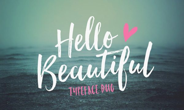 Hello Beautiful Font Duo + Swashes 355433