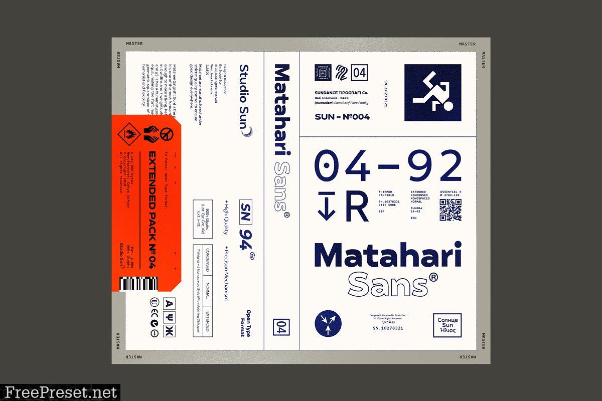 Matahari Sans Font Family 3445107