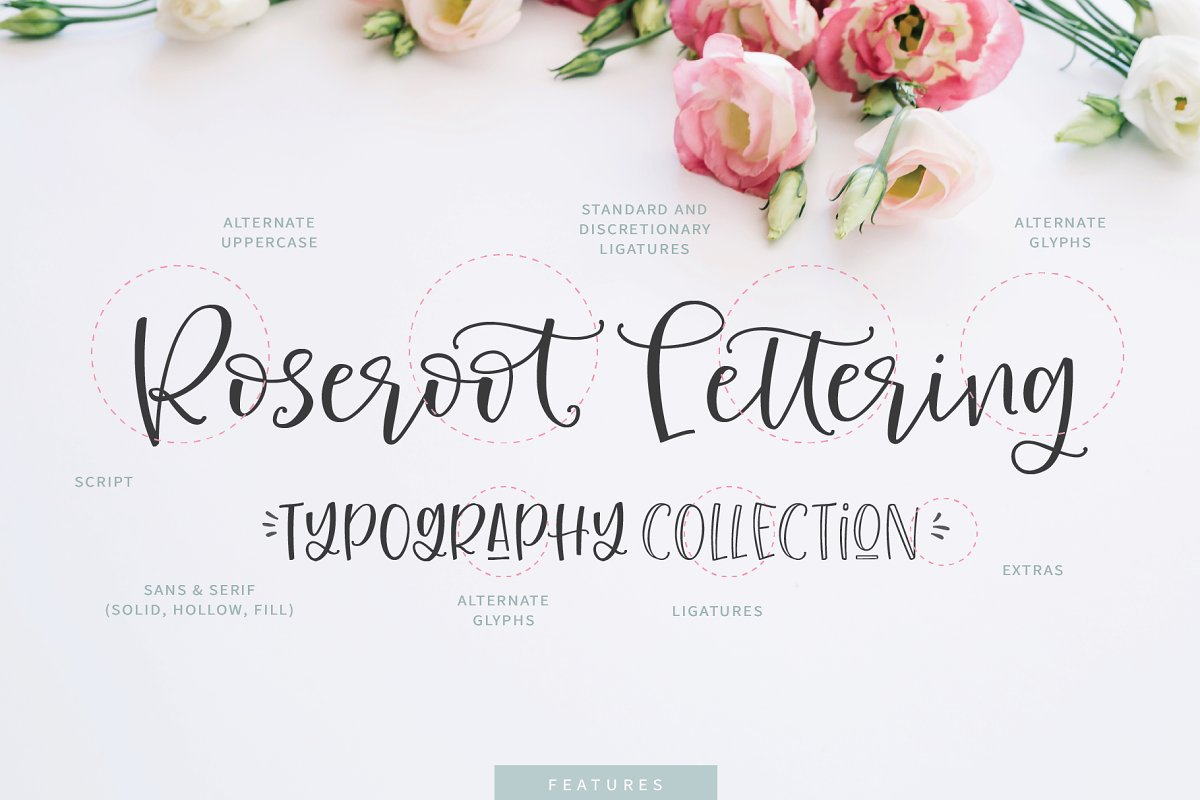 Roseroot Cottage Font Collection 2850245