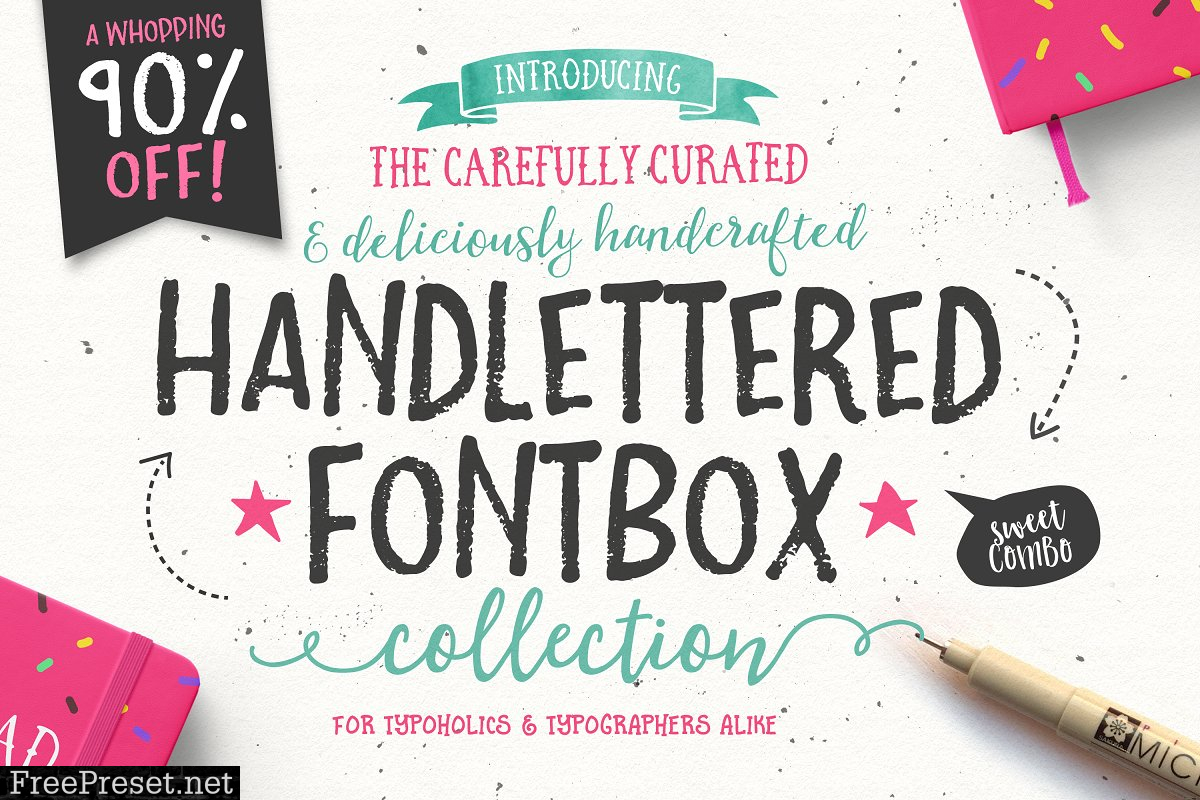 The Handlettered Fontbox 645736