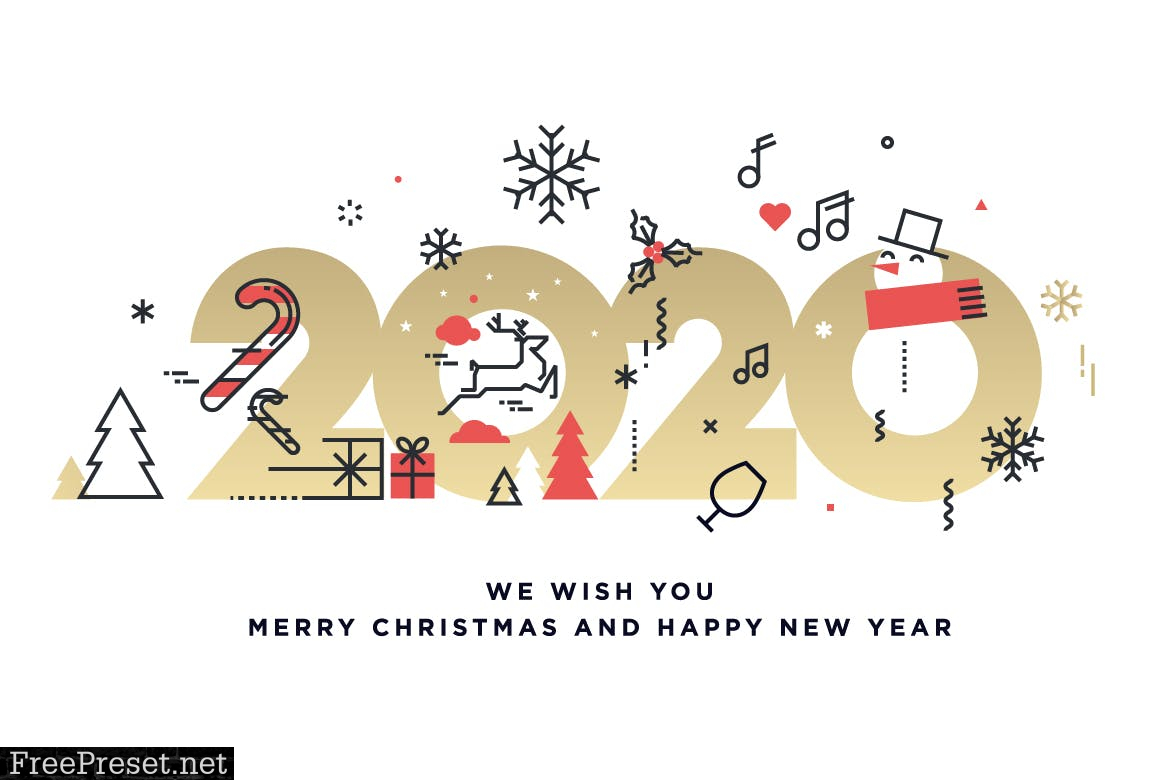 Merry Christmas and Happy New Year 2020 DXVCMF2