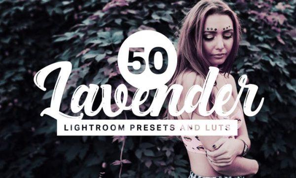 50 Lavender Lightroom Presets and LUTs