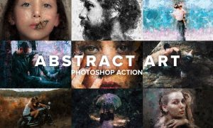Abstract Art Photoshop Action 4403730