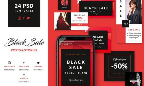 Black Sale - Social Media Booster Pack 2XN3Y26