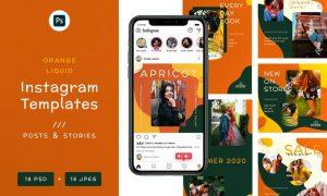 Orange Liquid - Instagram Banners Z5PAWZ6
