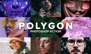 Polygon Photoshop Action 4403769