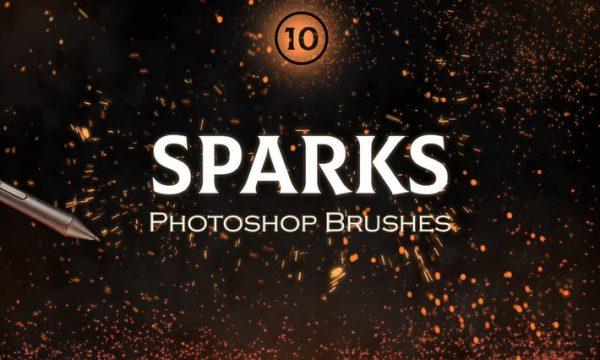 Sparks Photoshop Brushes  ZUD7KDJ