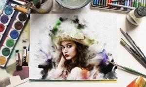 Watercolor Paint Effect 25052991