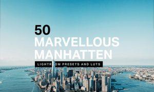 50 Manhattan Lightroom Presets LUTs