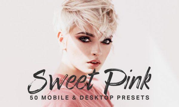 50 Sweet Pink Lightroom Presets LUTs