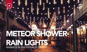 Gif Animated Meteor Shower Light Photoshop Action