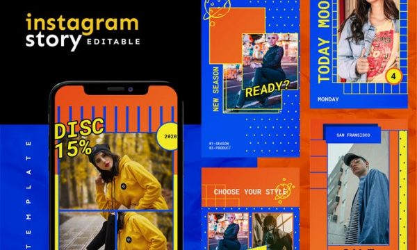 Instagram Story Template GA3PCNL