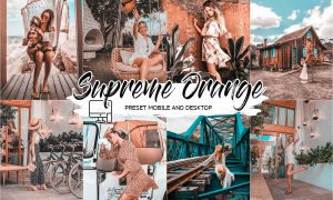 SUPREME ORANGE LIGHTROOM PRESETS 4432960