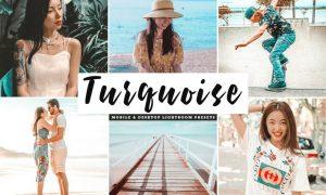 Turquoise Mobile & Desktop Lightroom Presets