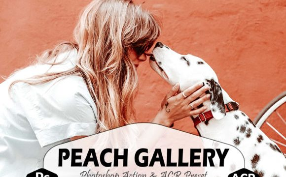 10 Peach Gallery Photoshop Actions
