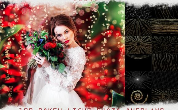 100 Wedding Sparklers Photoshop Overlays