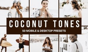 50 Coconut Tones Lightroom Presets and LUTs