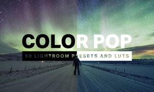 50 Color Pop Lightroom Presets and LUTs