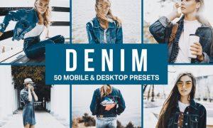 50 Denim Fashion Lightroom Presets and LUTs