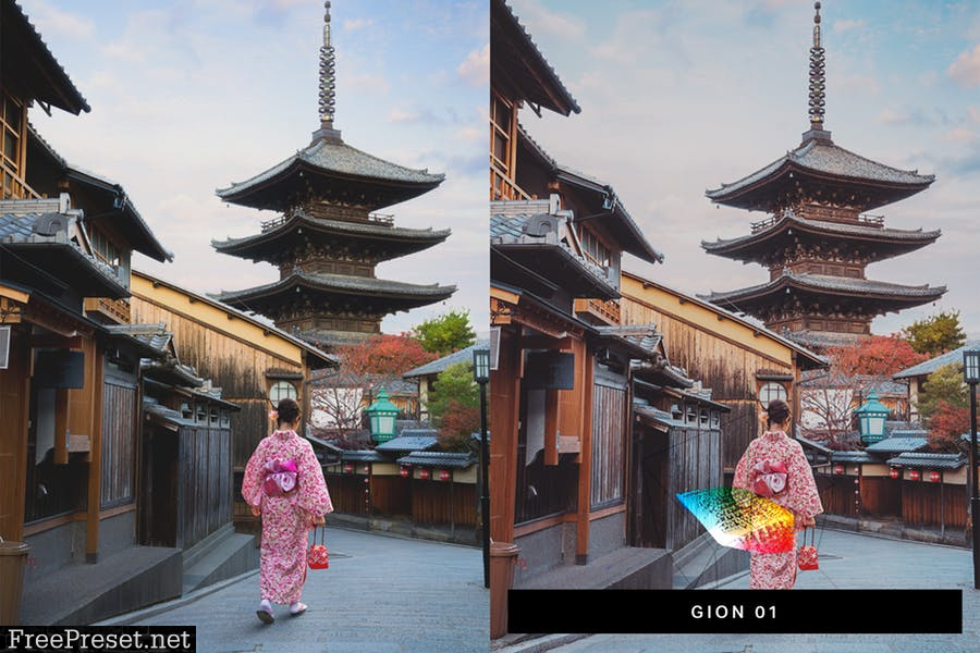 50 Kyoto Lightroom Presets and LUTs