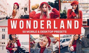 50 Wonderland Lightroom Presets and LUTs
