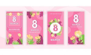 8 March Instagram Stories Social Media Template VTBHUAF