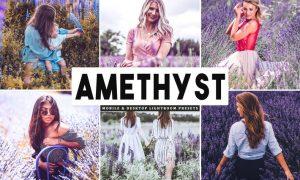 Amethyst Mobile & Desktop Lightroom Presets