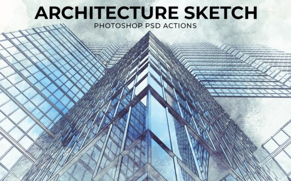 Architecture Sketch Photoshop PSD Action Template