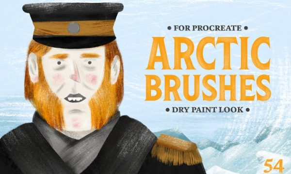 Arctic Dry Brushes for Procreate T95QKKQ