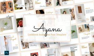 Ayana - Lookbook Instagram Feed Template ZWB8KEC