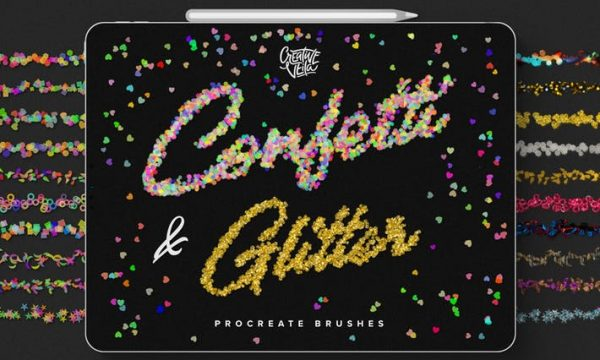 Confetti and Glitter Procreate Brushes Pack JWE3V5D