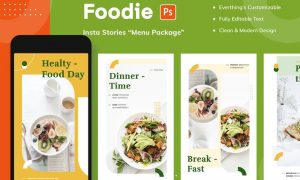 Foodie Insta Stories - Menu Package  U4EQK4G