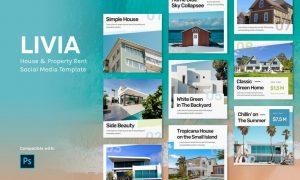 Livia - House Instagram Feed Template B8NMBXF