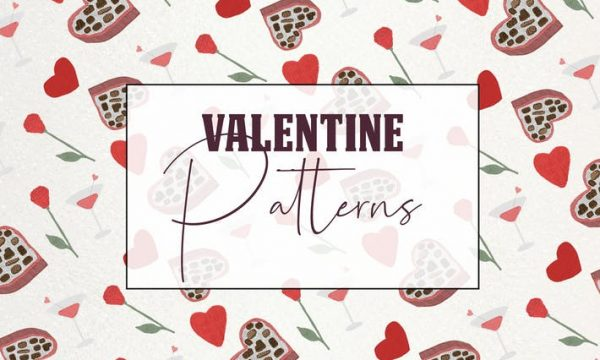 Lovely romantic seamless valentine patterns 3E579VH