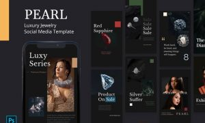 Pearl - Jewelry Instagram Story Template 8F62GFY