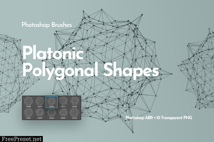 Platonic Polygonal Shapes Photoshop Brushes 3TL82RA