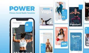 Power - Fitness Instagram Story Template WMSB4MF