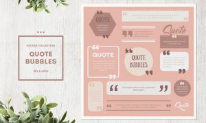 Quote Box Vector Set 3UL5KND