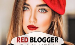 Red Blogger Photoshop Actions and ACR
