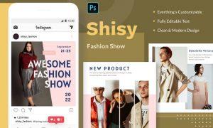 Shisy Fashion Show - Instagram Feed Post T2AU6HQ