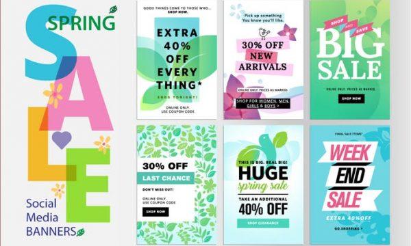 Spring sale banners 3RUTTU5