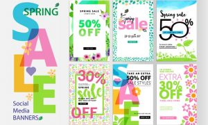 Spring sale banners 5YAPJYS