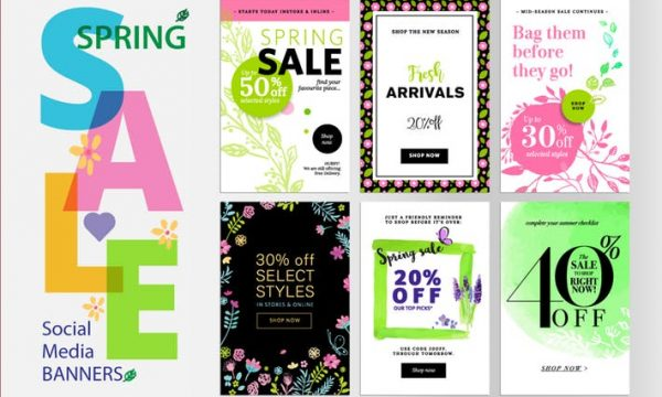 Spring sale banners QGEJSM4