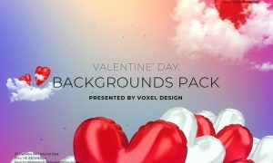 Valentine's Day Backgrounds Pack  G6K9SLA