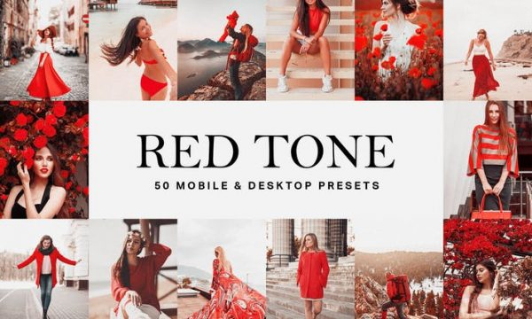 50 Red Tone Lightroom Presets and LUTs