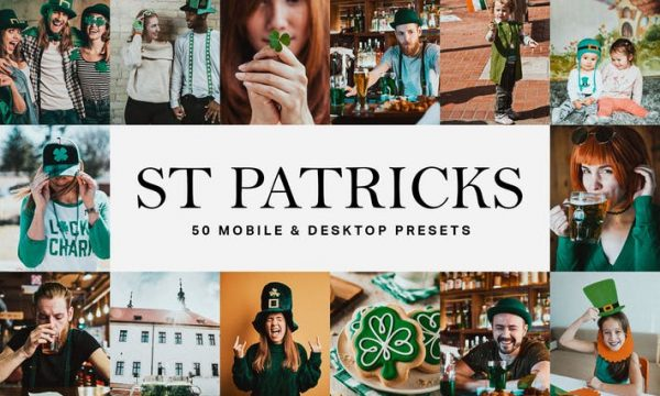 50 St Patrick's Day Lightroom Presets and LUTs