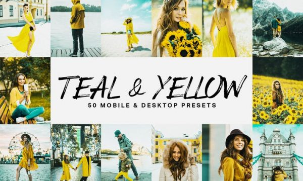 50 Teal & Yellow Lightroom Presets and LUTs