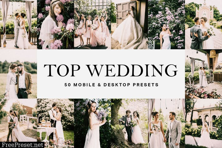 50 Top Wedding Lightroom Presets and LUTs
