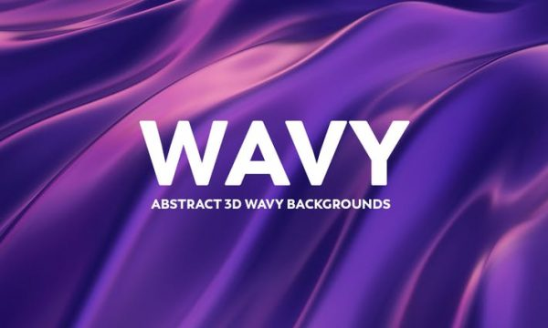 Abstract 3D Wavy Background - Blue & Purple SMSCK4J