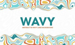 Abstract 3D Wavy Lines Background - Multi color GV65EDA